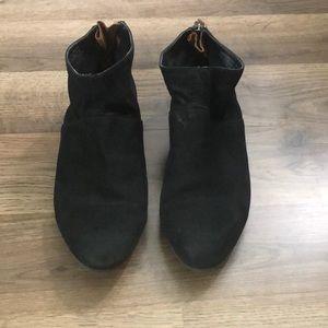 Aldo Black Suede Ankle Boot